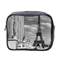 Vintage France Paris Eiffel tour Chaillot palace 1970 Twin-sided Cosmetic Case