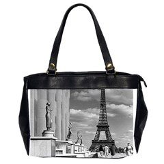 Vintage France Paris Eiffel Tour Chaillot Palace 1970 Twin Sided Oversized Handbag