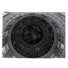 Vintage France Paris Dome Fresco Charles De La Fosse Cosmetic Bag (xxl)