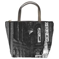 Vintage France Paris sacre Coeur basilica virgin chapel Bucket Handbag