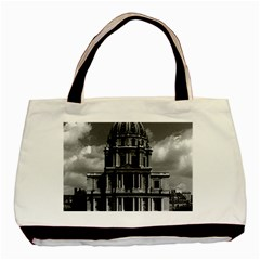Vintage France Paris Church Saint Louis des Invalides Black Tote Bag
