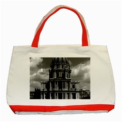 Vintage France Paris Church Saint Louis des Invalides Red Tote Bag
