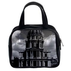 Vintage France Paris Church Saint Louis Des Invalides Twin Sided Satchel Handbag