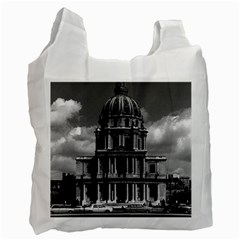Vintage France Paris Church Saint Louis des Invalides Single-sided Reusable Shopping Bag