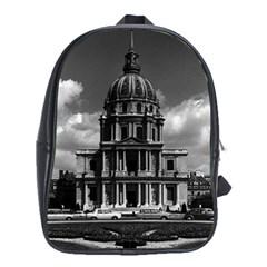 Vintage France Paris Church Saint Louis des Invalides School Bag (XL)