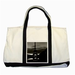 Vintage France Paris Eiffel Tower Reflection 1970 Two Toned Tote Bag