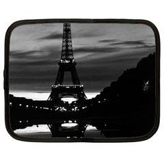 Vintage France Paris Eiffel tower reflection 1970 12  Netbook Case