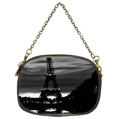 Vintage France Paris Eiffel Tower Reflection 1970 Single Sided Evening Purse