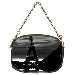 Vintage France Paris Eiffel tower reflection 1970 Twin-sided Evening Purse