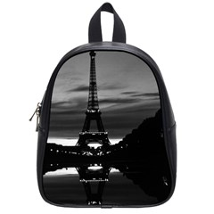 Vintage France Paris Eiffel tower reflection 1970 Small School Backpack