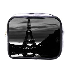 Vintage France Paris Eiffel Tower Reflection 1970 Single Sided Cosmetic Case