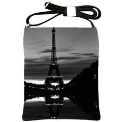 Vintage France Paris Eiffel tower reflection 1970 Cross Shoulder Sling Bag