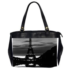 Vintage France Paris Eiffel tower reflection 1970 Twin-sided Oversized Handbag
