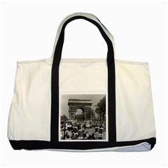 Vintage France Paris Triumphal arch 1970 Two Toned Tote Bag