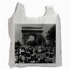 Vintage France Paris Triumphal Arch 1970 Single Sided Reusable Shopping Bag