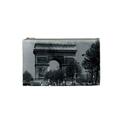 Vintage France Paris Triumphal Arch 1970 Small Makeup Purse