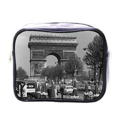 Vintage France Paris Triumphal arch 1970 Single-sided Cosmetic Case