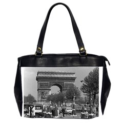 Vintage France Paris Triumphal arch 1970 Twin-sided Oversized Handbag
