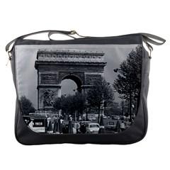 Vintage France Paris Triumphal Arch 1970 Messenger Bag