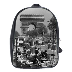 Vintage France Paris Triumphal arch 1970 School Bag (XL)