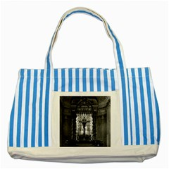 Vintage France Paris Royal Chapel Altar St James Palace Blue Striped Tote Bag