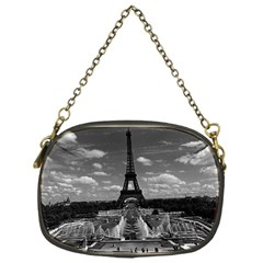 Vintage France Paris Fontain Chaillot Tour Eiffel 1970 Single-sided Evening Purse