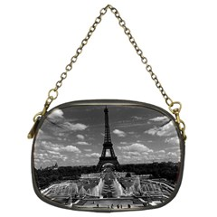 Vintage France Paris Fontain Chaillot Tour Eiffel 1970 Twin-sided Evening Purse