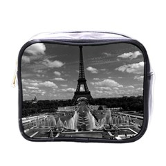 Vintage France Paris Fontain Chaillot Tour Eiffel 1970 Single-sided Cosmetic Case