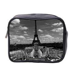 Vintage France Paris Fontain Chaillot Tour Eiffel 1970 Twin-sided Cosmetic Case