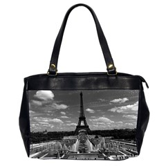 Vintage France Paris Fontain Chaillot Tour Eiffel 1970 Twin-sided Oversized Handbag