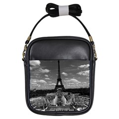 Vintage France Paris Fontain Chaillot Tour Eiffel 1970 Kids  Sling Bag