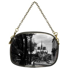 Vintage France Paris notre dame saint louis island 1970 Twin-sided Evening Purse
