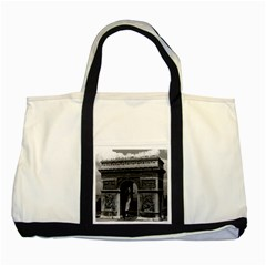 Vintage France Paris Triumphal Arch  Place De L etoile Two Toned Tote Bag