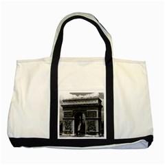 Vintage France Paris Triumphal arch  Place de l Etoile Two Toned Tote Bag