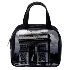 Vintage France Paris Triumphal Arch  Place De L etoile Single Sided Satchel Handbag