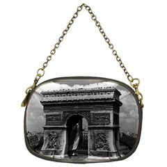 Vintage France Paris Triumphal Arch  Place De L etoile Single Sided Evening Purse