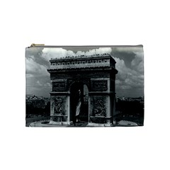 Vintage France Paris Triumphal arch  Place de l Etoile Medium Makeup Purse