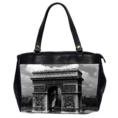Vintage France Paris Triumphal Arch  Place De L etoile Twin Sided Oversized Handbag