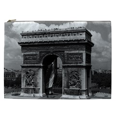 Vintage France Paris Triumphal arch  Place de l Etoile Cosmetic Bag (XXL)