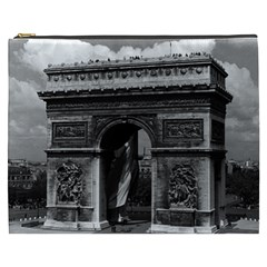 Vintage France Paris Triumphal arch  Place de l Etoile Cosmetic Bag (XXXL)