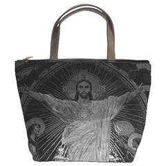 Vintage France Paris Sacre Coeur Basilica dome Jesus Bucket Handbag