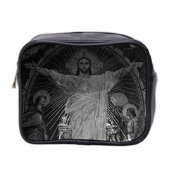 Vintage France Paris Sacre Coeur Basilica Dome Jesus Twin Sided Cosmetic Case