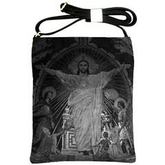 Vintage France Paris Sacre Coeur Basilica dome Jesus Cross Shoulder Sling Bag