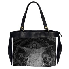 Vintage France Paris Sacre Coeur Basilica Dome Jesus Twin Sided Oversized Handbag