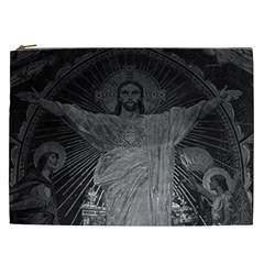 Vintage France Paris Sacre Coeur Basilica dome Jesus Cosmetic Bag (XXL)
