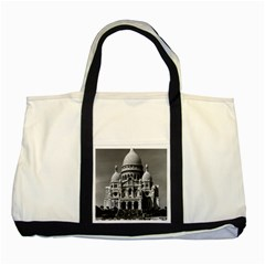 Vintage France Paris The Sacre Coeur Basilica 1970 Two Toned Tote Bag