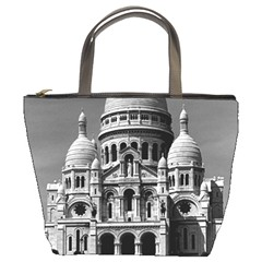 Vintage France Paris The Sacre Coeur Basilica 1970 Bucket Handbag