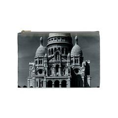 Vintage France Paris The Sacre Coeur Basilica 1970 Medium Makeup Purse