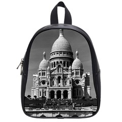 Vintage France Paris The Sacre Coeur Basilica 1970 Small School Backpack
