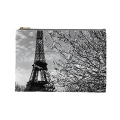Vintage France Paris Eiffel tour 1970 Large Makeup Purse
